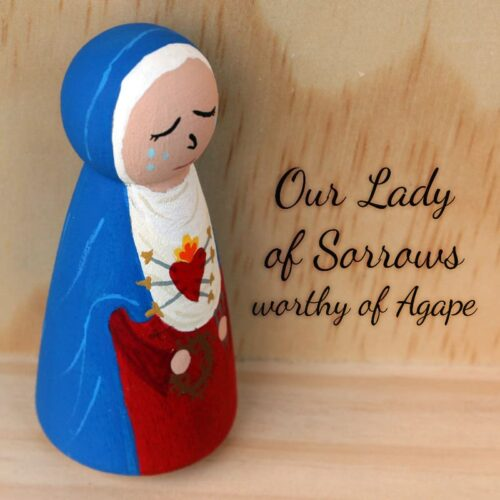 Our Lady of Sorrows top angle side