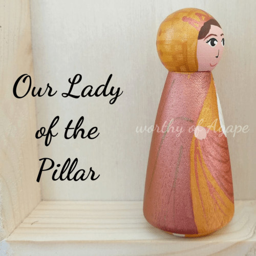 Our Lady of the Pillar peg close side