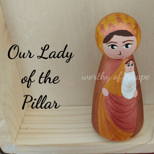 Our Lady of the Pillar peg close top