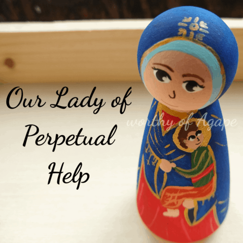 Our Lady of Perpetual Help top detail