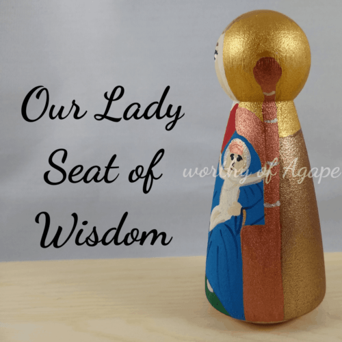 Our Lady Seat of Wisdom side
