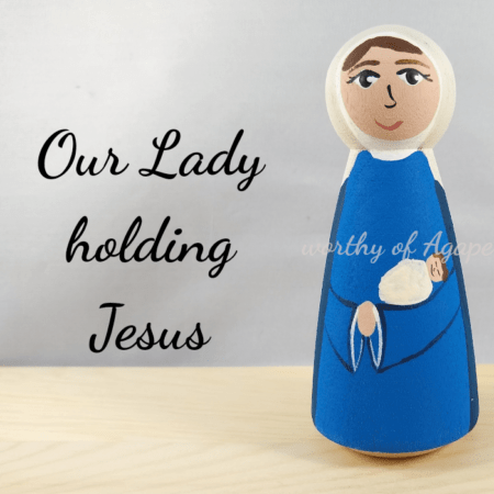 Our Lady holding Jesus main