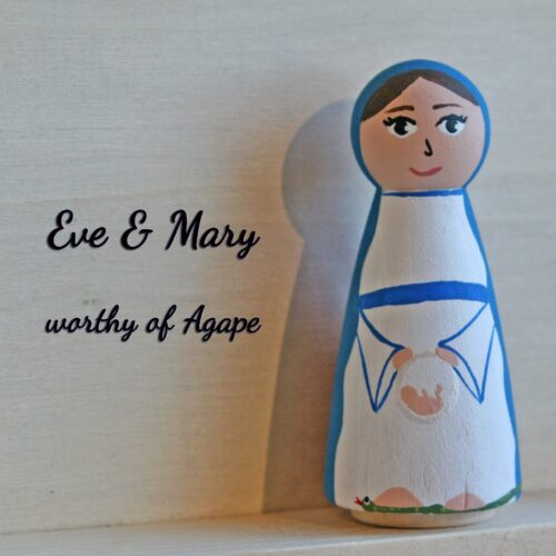 Our Lady Consoling Eve Mary side