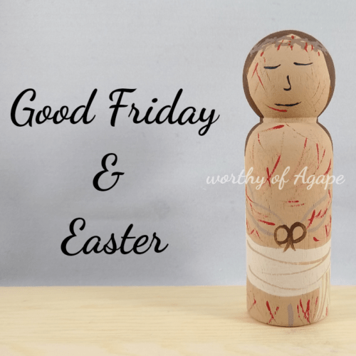 Good Friday and Easter good Friday side main