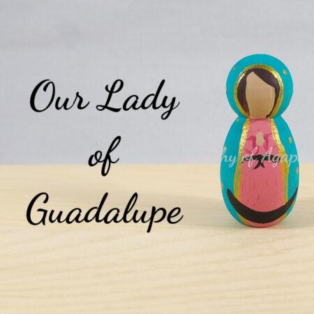 Our Lady of Guadalupe keychain ornament new