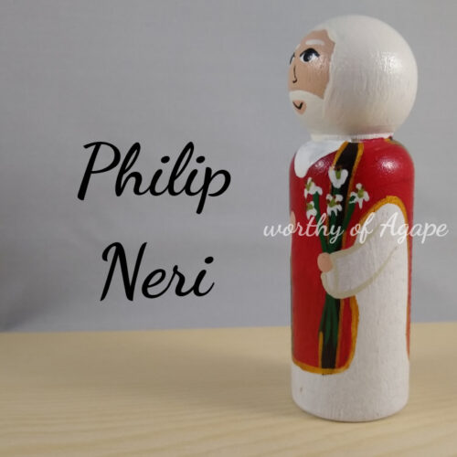 Philip Neri lily side