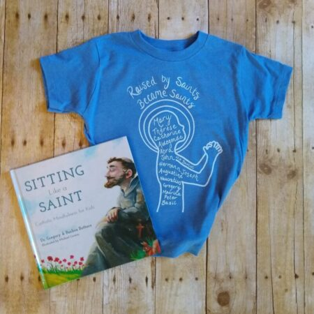 Raised by saints toddler blue