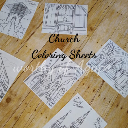 church coloring sheets wm spread out